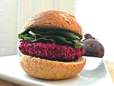 beet burgers with bun +