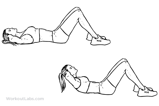 Crunch Variations on abdominals exercises