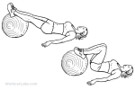Stability Ball Hamstring Curl