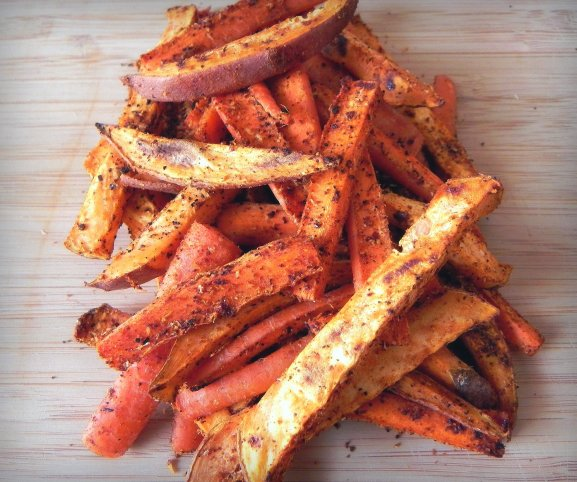 sweetpotatocarrotfries