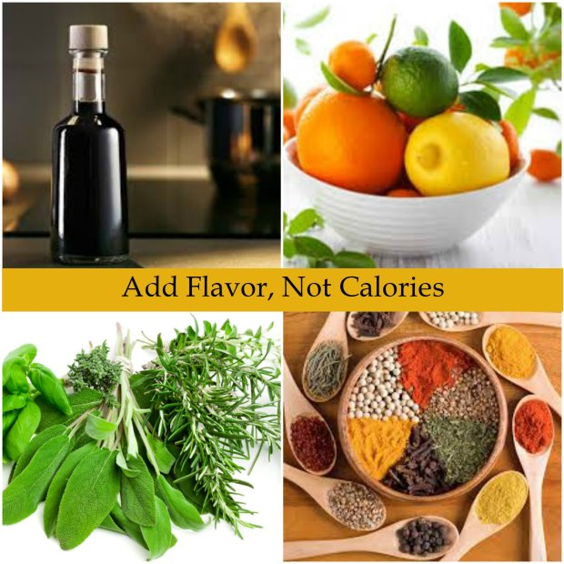 Add Flavor, Not Cals with text