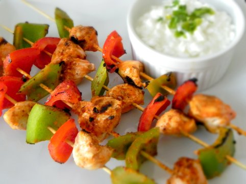 spicy buffalo chicken skewers