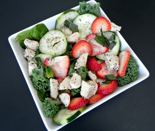 strawberry mint chicken salad