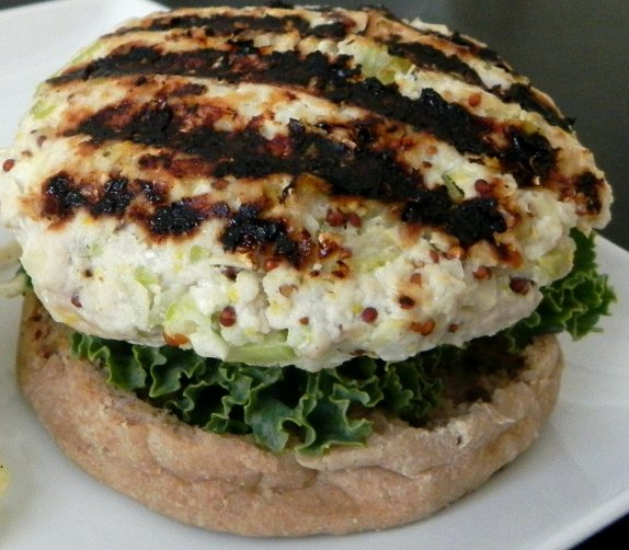 Apple Dijon Turkey Burgers
