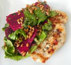 Grilled Chicken with Citrus Beet and Wheat Berry Salad