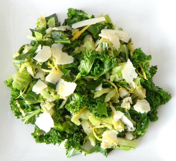 lemon parm brussel sprouts
