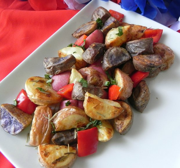 red white blue potatoes