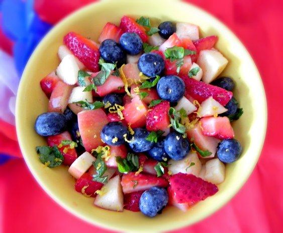 Vanilla Mint Berry Fruit Salad edited