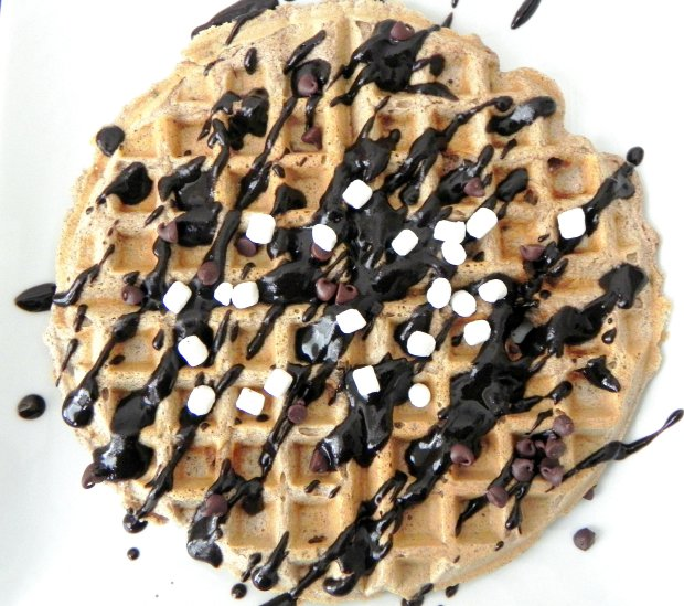 Dark Chocolate Peanut Butter S'mores Waffles