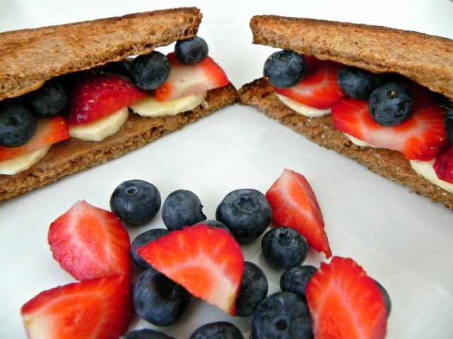 Sugar-Free PB&J Sandwiches