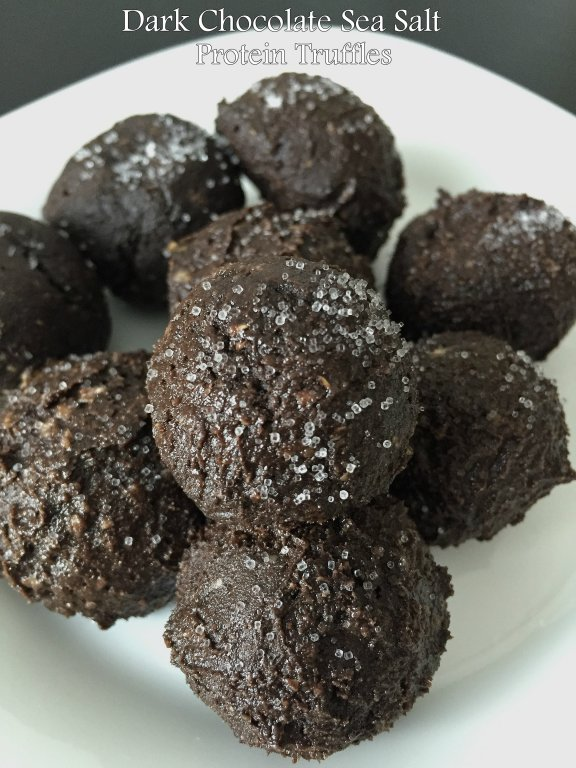 dark chocolate sea salt protein truffles