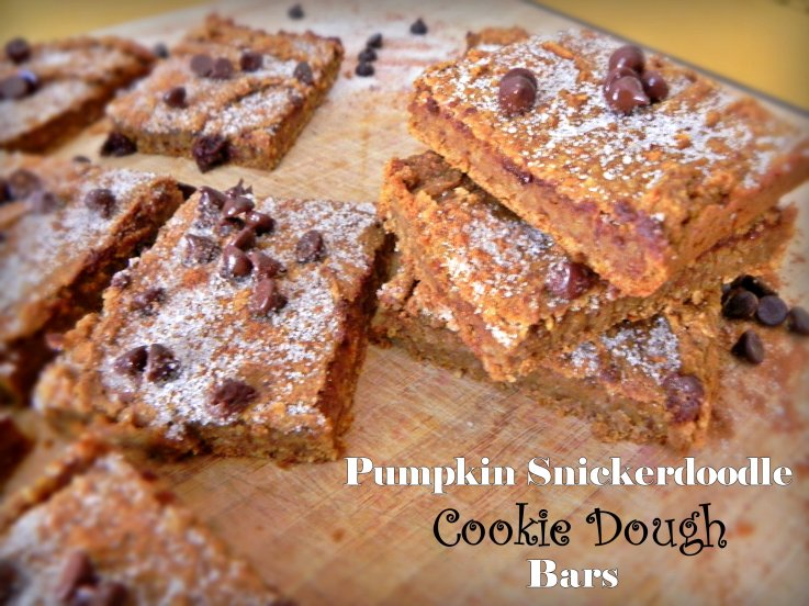 Pumpkin Snickerdoodle Cookie Dough Bars