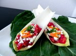 Beet Orange and Feta Endive Boats