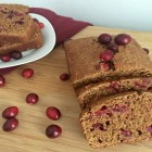 Cranberry Gingerbread Spice Loaf