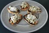 Roasted Eggplant Mushroom Crostini