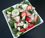 Strawberry Mint Chicken Salad with Poppyseed Chia Vinaigrette