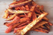 Cinnamon Spiced Sweet Potato Carrot Fries