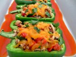 Turkey Enchilada Stuffed Peppers