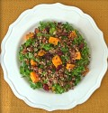 Quinoa Kale Salad with Cinnamon Roasted Butternut Squash
