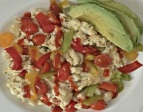 Fiesta Egg White Avocado Scramble