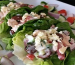 Greek Chicken Salad Lettuce Cups