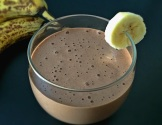 Vegan Mocha Banana Protein Smoothie