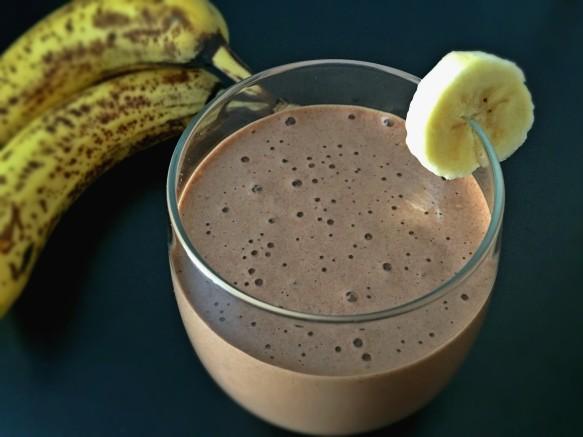 Vegan Mocha Banana Protein Smoothie