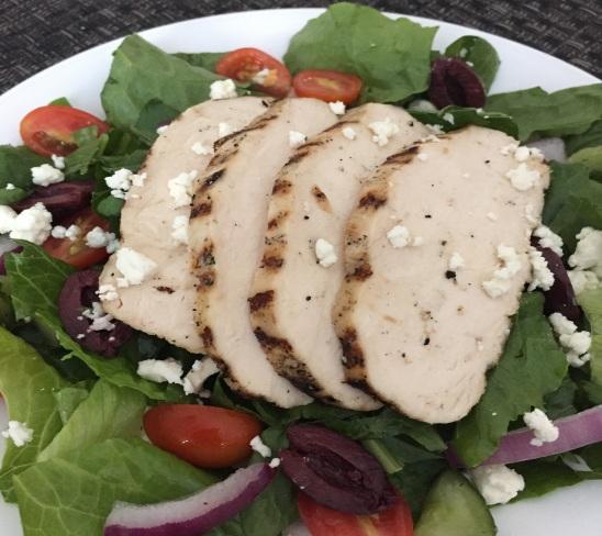greek chicken salad with quinoa
