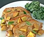 Pork Loin Cutlets with Spiced Apple Sauce