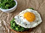 Green Goddess Toast with an Egg