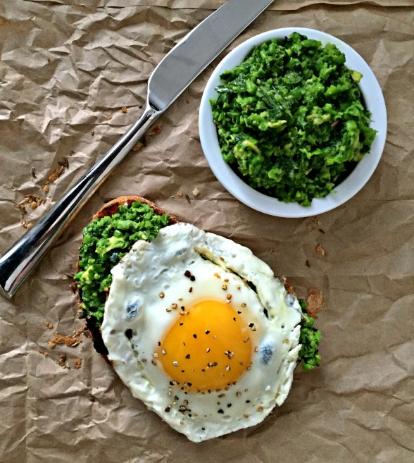 Green Goddess Toast with an Egg