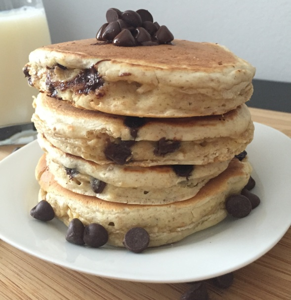 Oatmeal Choc Chip Pancakes 5