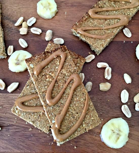 Crunchy Peanut Butter Banana Granola Bars