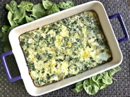 Spinach Artichoke Parm Breakfast Bake
